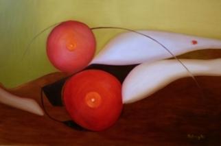 Akt sebbel, Nude with wound - 2009. 80X100 olaj, farost lemez