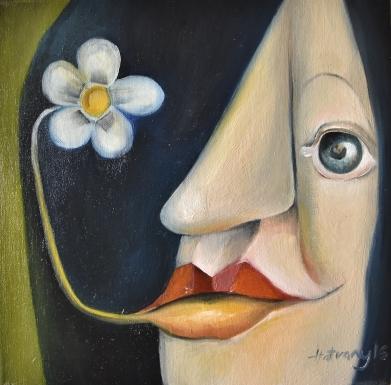 Boldogság - Happiness 2016. 40 cm x 40 cm - Németország magántulajdon