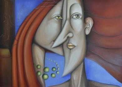 Titok - Secret - 2013. 140 cm X 100 cm oil on canvas