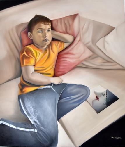 Fiam. - My son - 2013. 130 cm 150 cm, oil on canvas