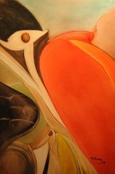 Kereszten, 2004. 50X60 olajpastel, farost