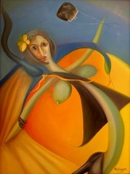 Modern Éva, 2010. magántulajdon Párizs, olaj,vászon 80X100 cm