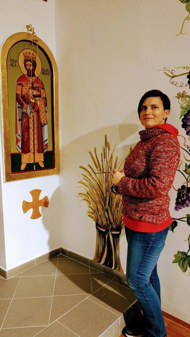 """A Szent László görög katolikus templom falfestése 2017. """"Búzakéve"""""""