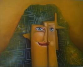 Labirint - 2015. oil on canvas 50X40 - MAGÁNTULAJDON
