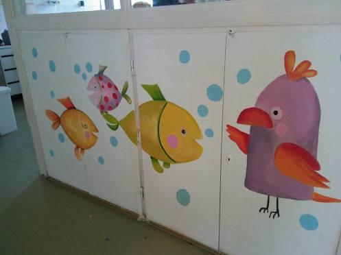 Részlet - Orosháza Kórház Gyermekosztályának fala