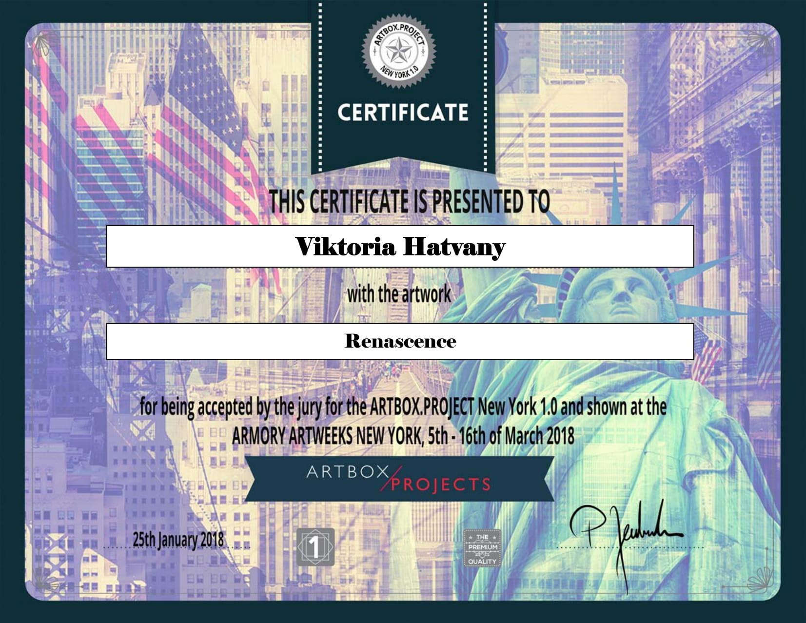 certificatee1 - New York - USA