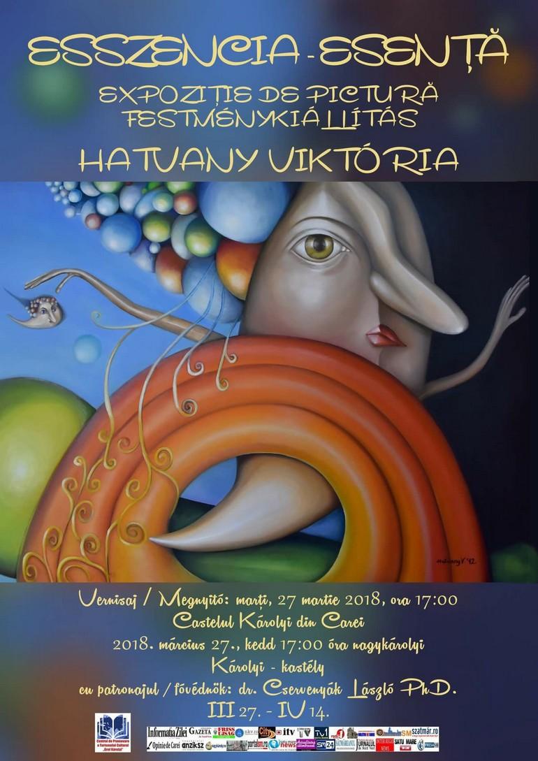 Hatvany Viktória Szóló kiállítása a Károlyi Kastélyban - Nagykárolyban. (Románia)