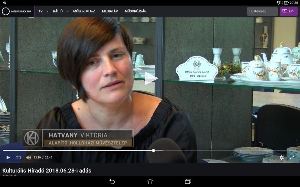 M5 Kulturális Televizó is beszámolt a Hatvany Művésztelepről