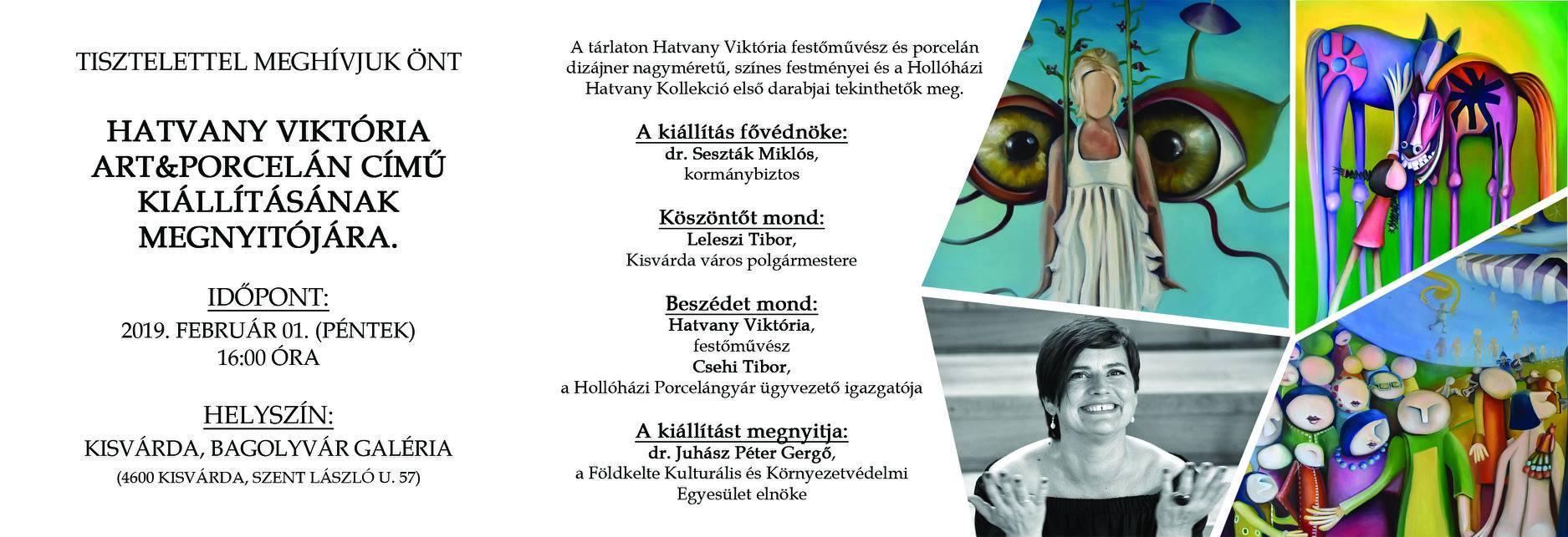 Hivatalos meghívó - Kisvárda, Hatvany kiállítás - Bagolyvár galéria 2019.