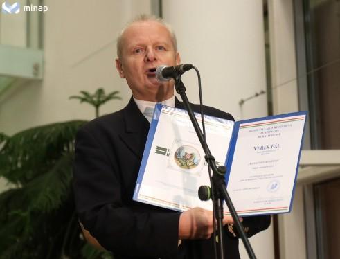 Dr. Mezei László a Kossuth Lajjos Koszorúja Alapítvány Elnöke, a díj megálmodója - 2019. Foto: minap